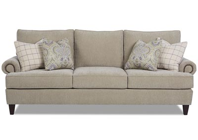 Madison Smoke Gray Stationary Fabric Sofa