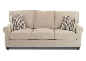 Othello Light Brown Stationary Fabric Sofa