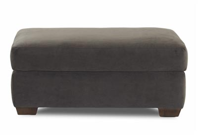 Newport Stationary Fabric Ottoman
