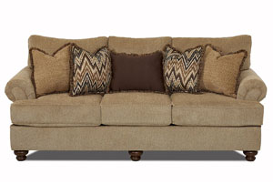 Greenvale Frenzy Cashmere Fabric Stationary Sofa