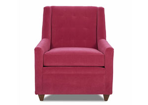 Midtown Hermes Arroya Red Stationary Fabric Chair