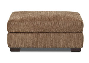 Tiburon Buster Chestnut Brown  Stationary Fabric Ottoman