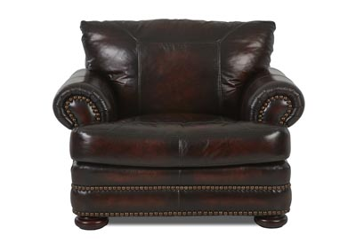 Montezuma Leather Stationary Chair