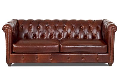 Beech Mountain Leather Stationary Sofa