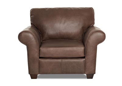 Moorland Leather Stationary Chair