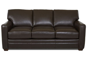 Fedora Durango Espresso Leather Sleeper Sofa