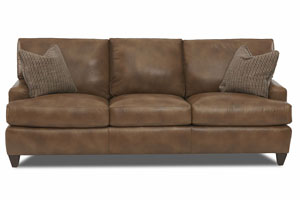 Cassio Alfresco Hickory Leather Stationary Sofa