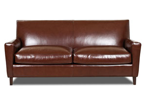 Goldie Whiskey Leather Stationary Sofa
