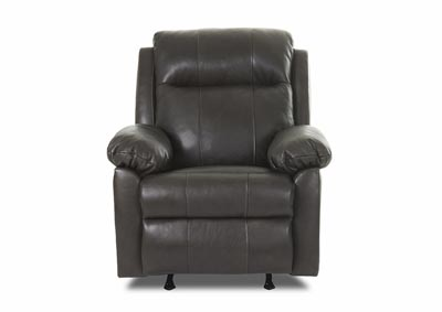 Amari Abilene Steel Gray Power Reclining Leather & Vinyl Chair