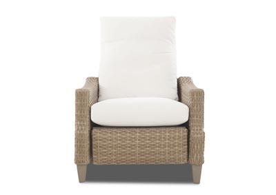 Belmeade White Fabric Wicker Reclining Chair