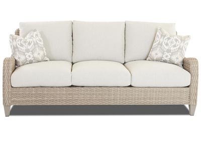 Mesa Dove White Stationary Fabric Sofa