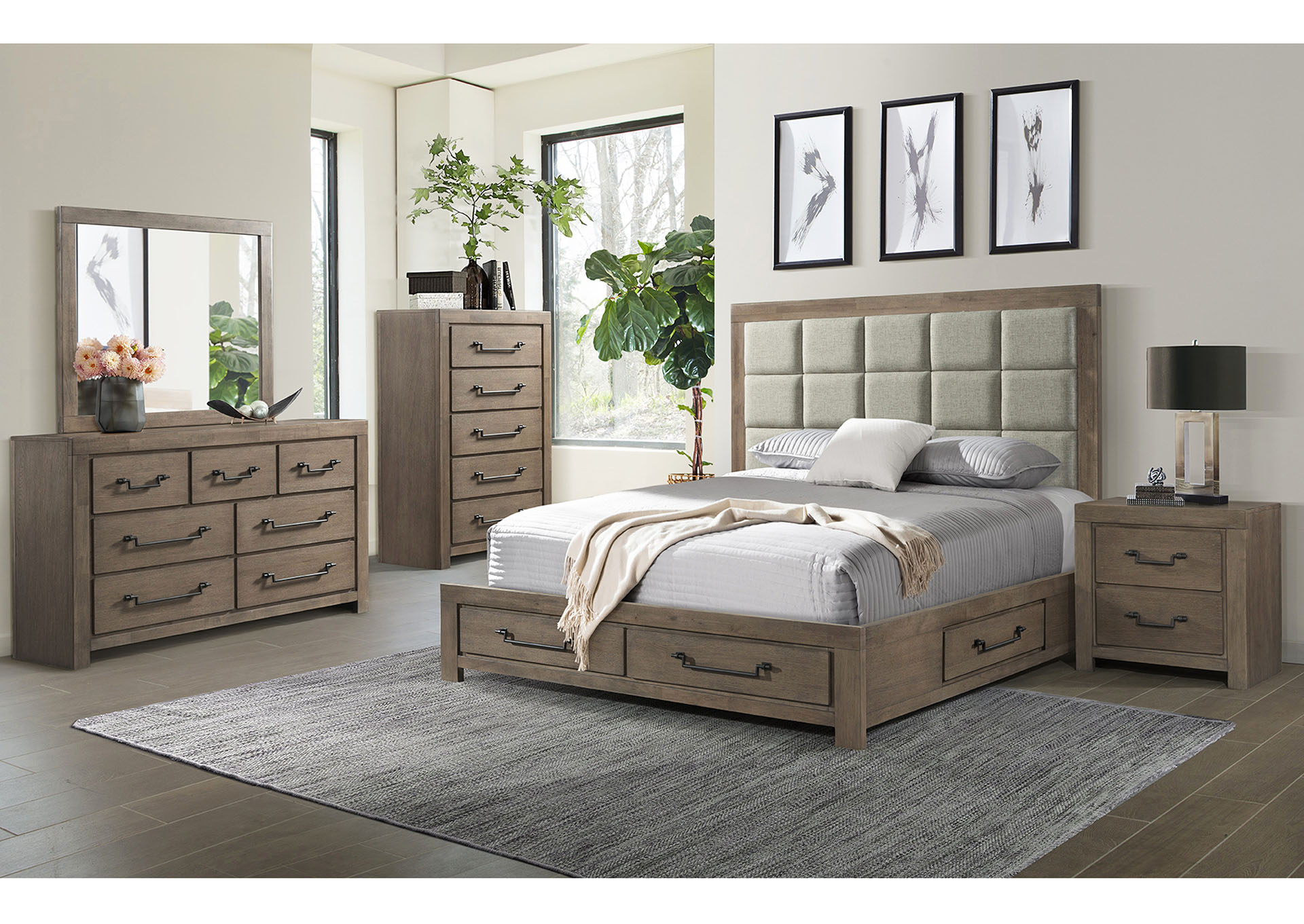 1054 Urban Swag Queen Storage Bed,Lane Furniture
