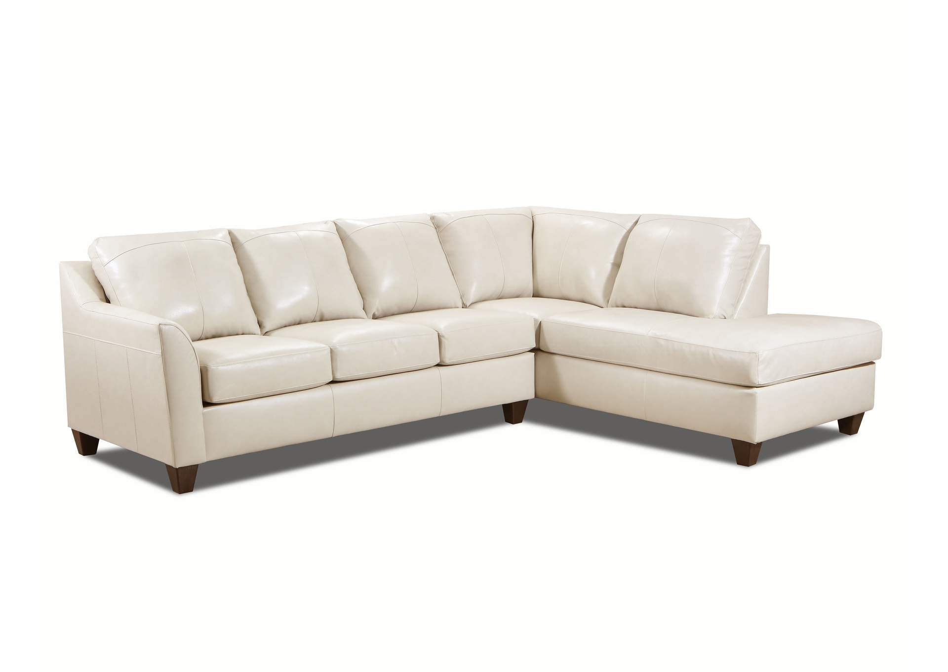 2029 Dundee Two Piece Sectional with RAF Bump Chaise - Soft Touch Cream,Lane Furniture
