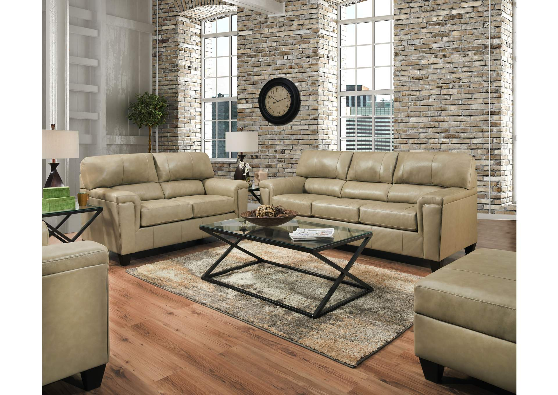 2038 Montego Two Piece Sectional with RAF Bump Chaise - Soft Touch Putty,Lane Furniture