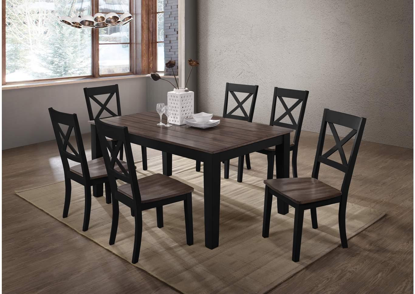 5058 A La Carte Black Round Dining Table Maverick Wholesale Furniture