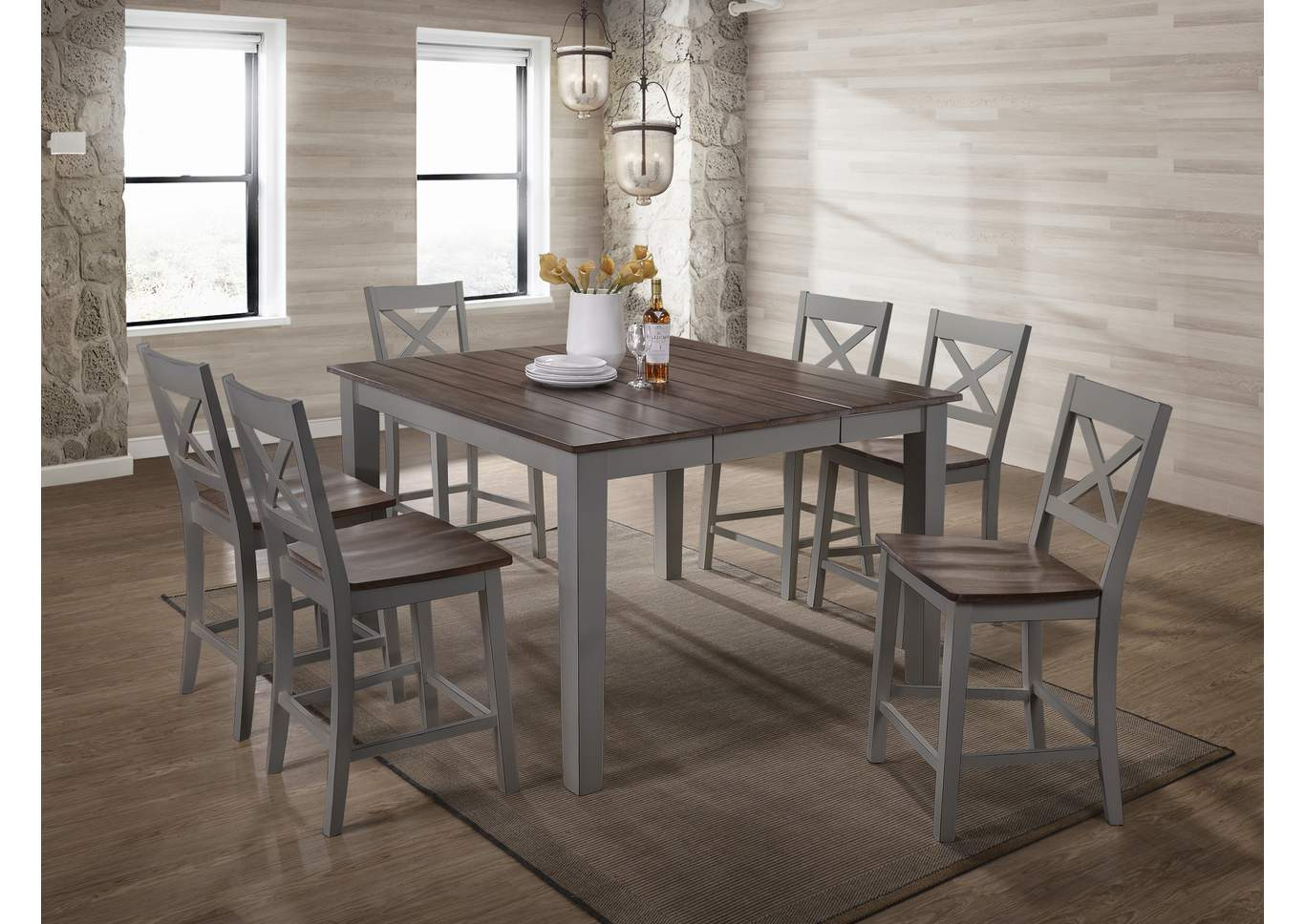 Heavy Duty Folding Picnic Table, 5059 A La Carte Gray Casual Dining Collection Sit Sleep Walker S Furniture