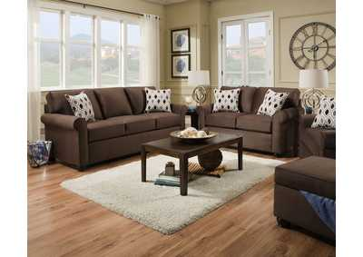 Image for 1530 Sofa - Jojo Chocolate / Preston Mocha