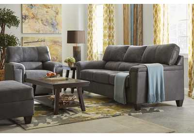 Image for 2022 Montego Two Piece Sectional with RAF Bump Chaise - Expedition Shadow