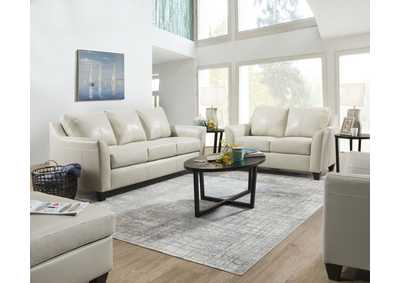 2029 Dundee Two Piece Sectional with RAF Bump Chaise - Soft Touch Cream