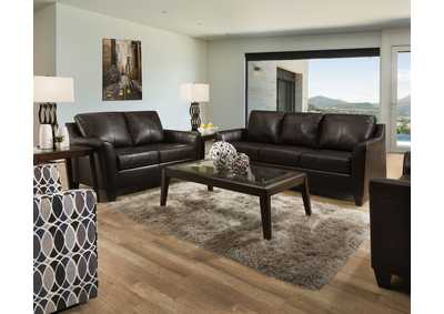 Image for 2029 Dundee Two Piece Sectional with RAF Bump Chaise - Soft Touch Bark