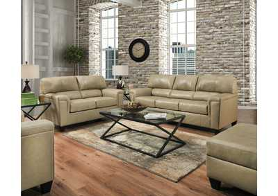 Image for 2038 Montego Two Piece Sectional with RAF Bump Chaise - Soft Touch Putty