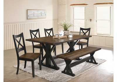 Image for 5015 Lexington Dining Bench - Black / Rustic Oak