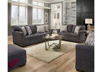 Image for 7058 LAF 2 Pc Sectional  - Pacific Steel Blue
