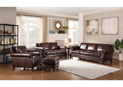 Image for Dallas 1502 Hickory Brown 3 Piece Sofa Set