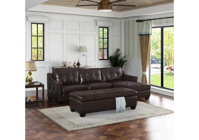 Image for Nelson 192 Brown 2 Piece Sectional & Chaise