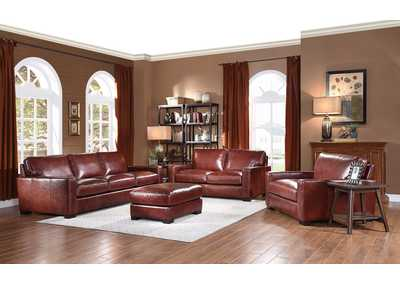 Image for Randall L619N Chestnut 3 Piece Sofa Set