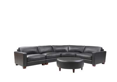 Image for Brent 6700 Charcoal 4 Piece Sectional W/ Ottoman