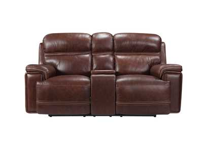 Image for Fresno 1004LV Brown Console Loveseat