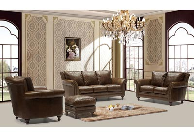 Image for Butler 5507 Brown 3 Piece Sofa Set