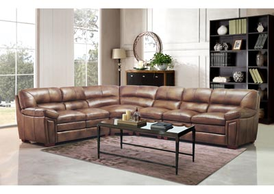 Image for Rio 082373H Brown 4 Piece Sectional Sofa