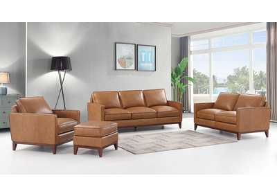 Image for Caralsbad 8906 Brown 3 Piece Sofa Set