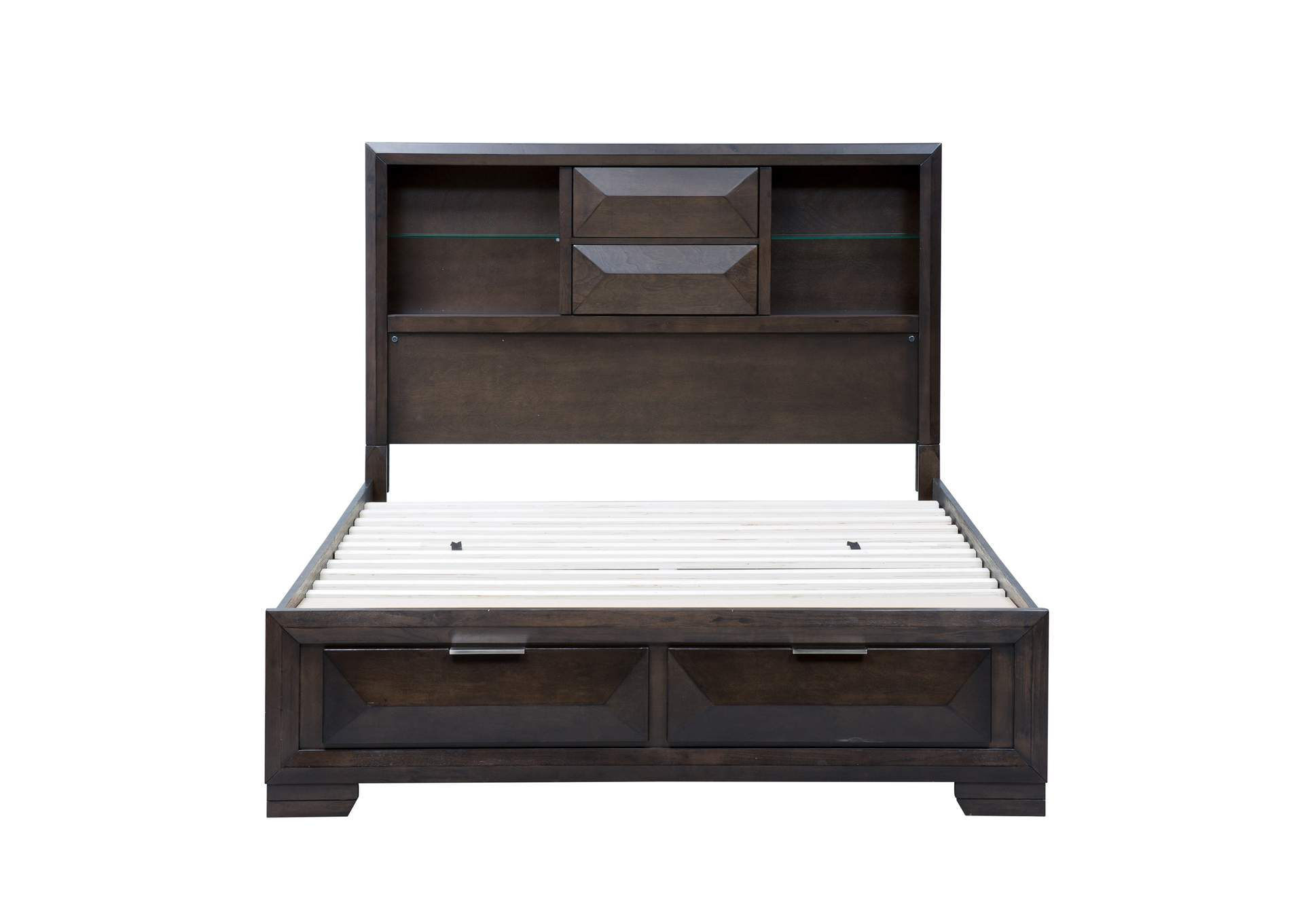 Newland Cappuccino King Storage Bed w/2 Drawers,Liberty