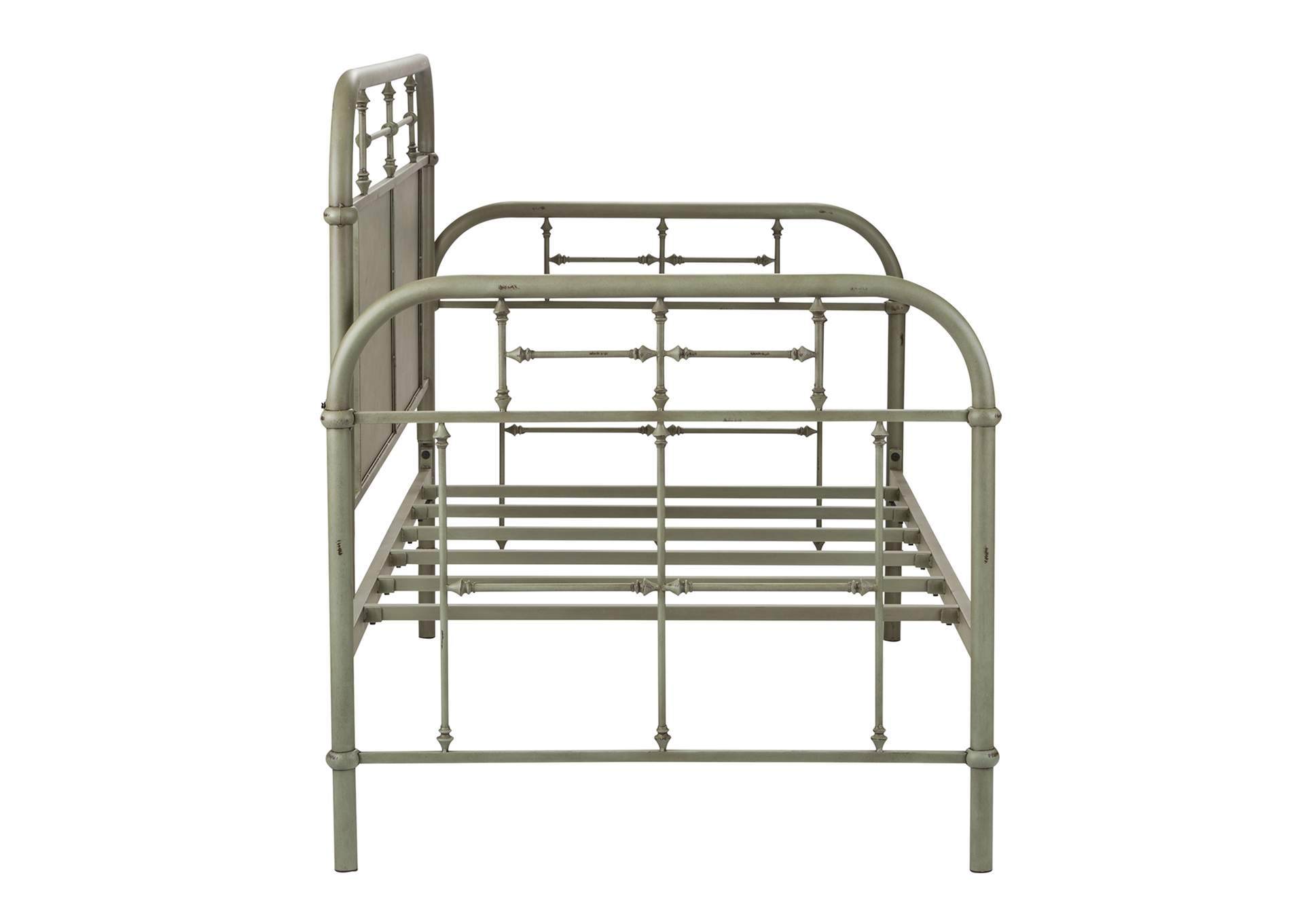 Vintage Series Distressed Metal Twin Metal Day Bed - Green,Liberty