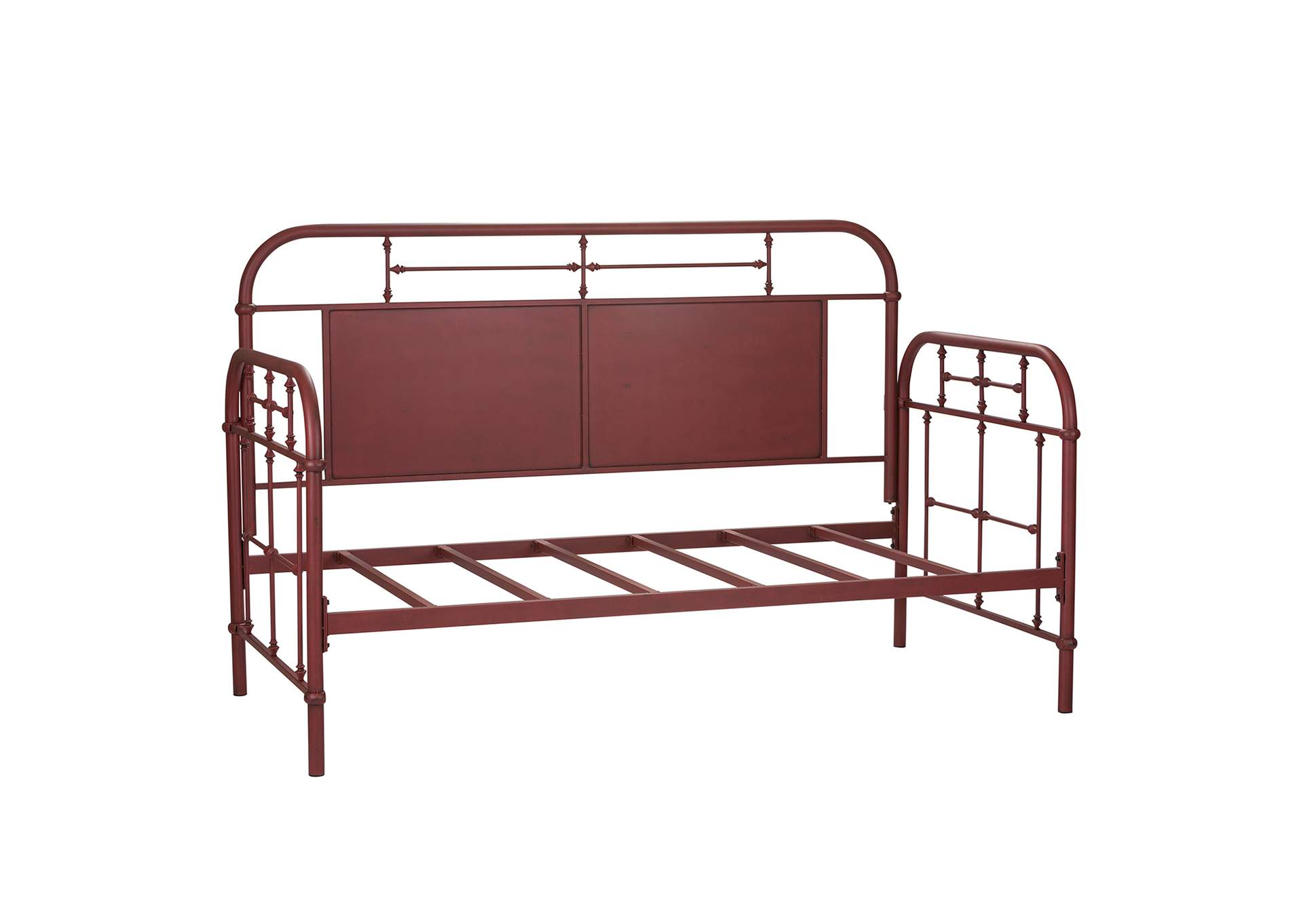 Vintage Series Distressed Metal Twin Metal Day Bed - Red,Liberty