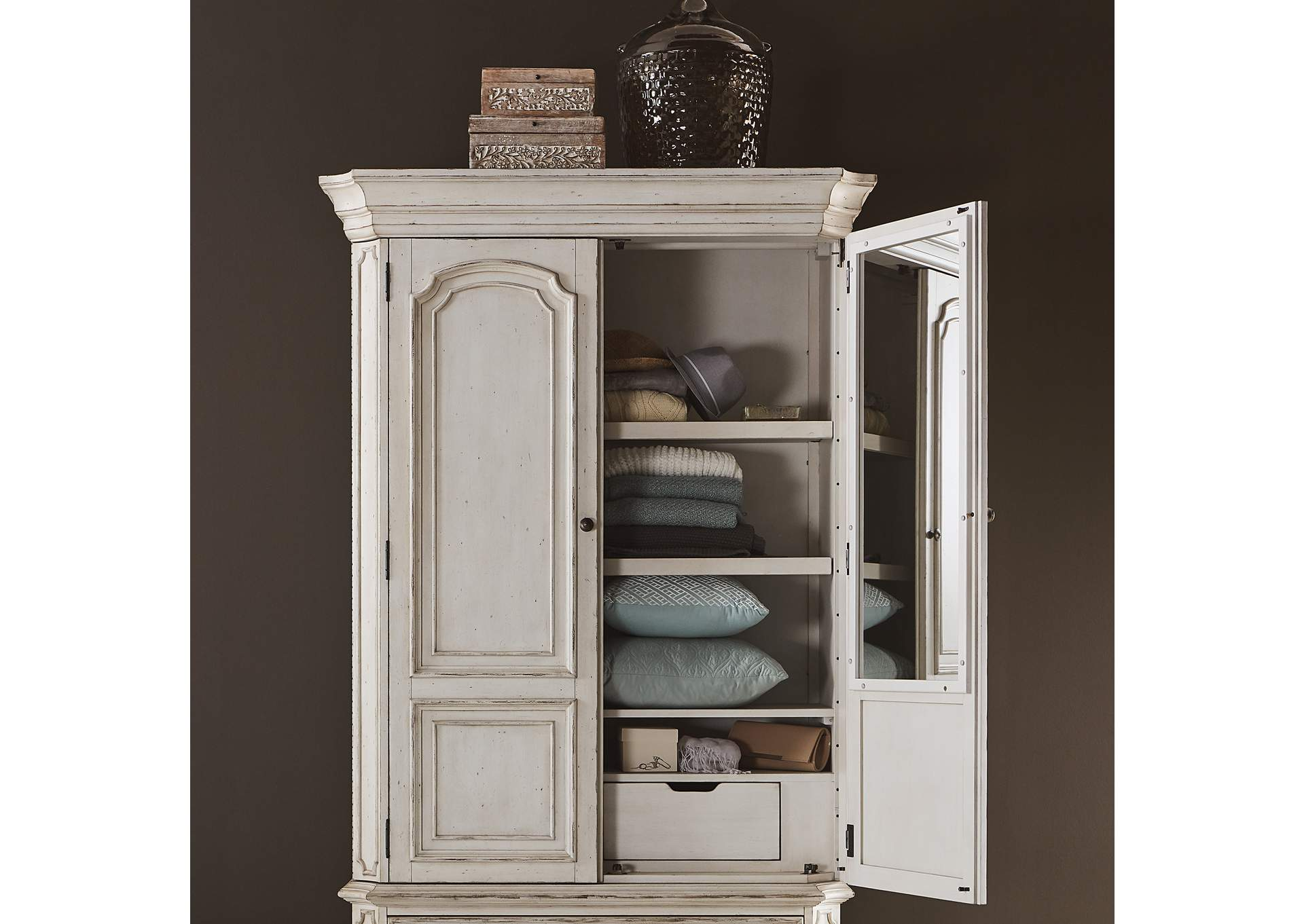 Abbey Road White Armoire Top,Liberty