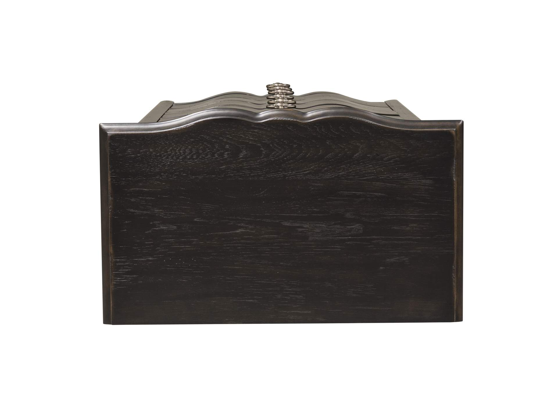 Chesapeake Wire Brushed Antique Black Lingerie Chest,Liberty