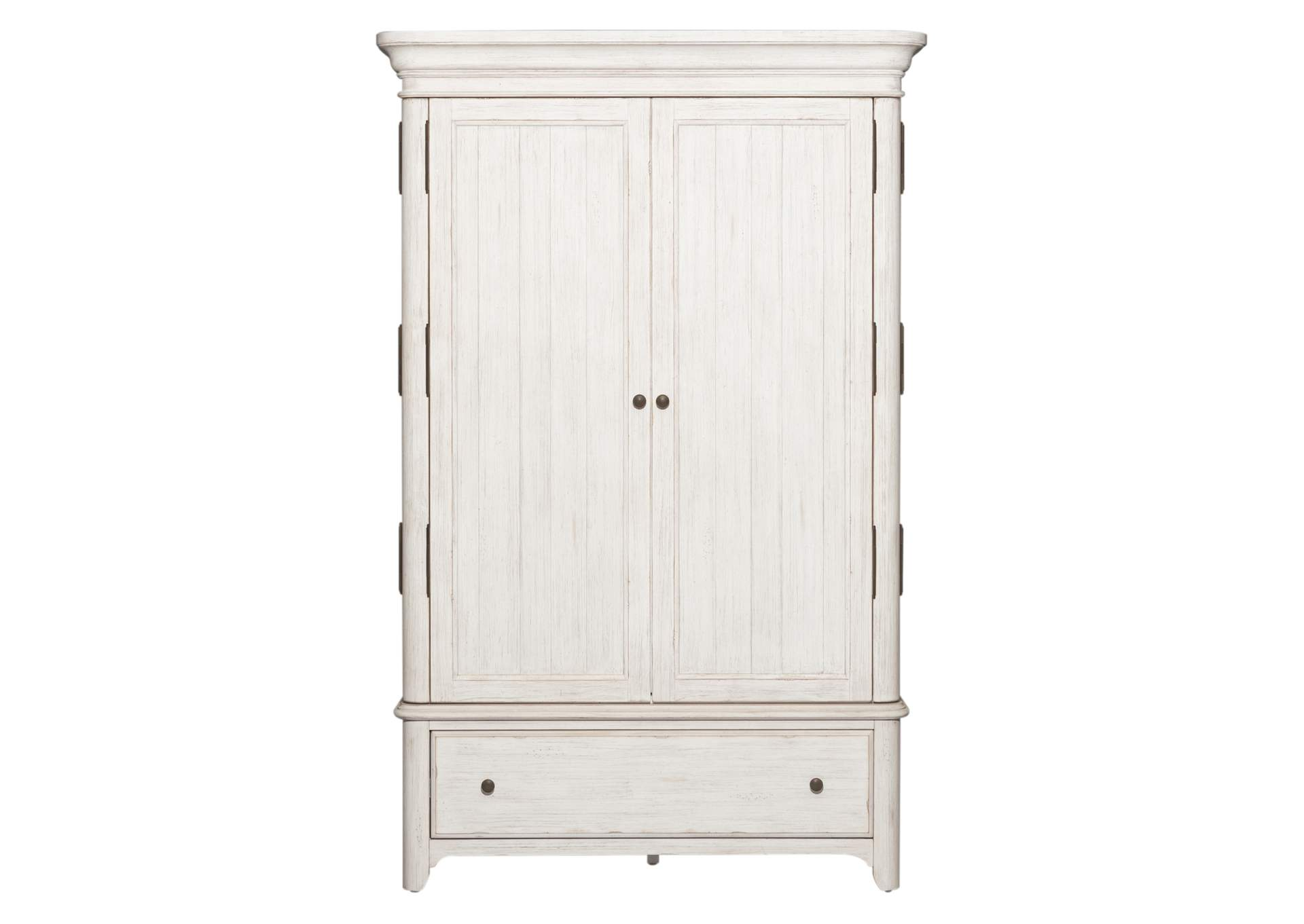 Farmhouse Reimagined White Armoire,Liberty