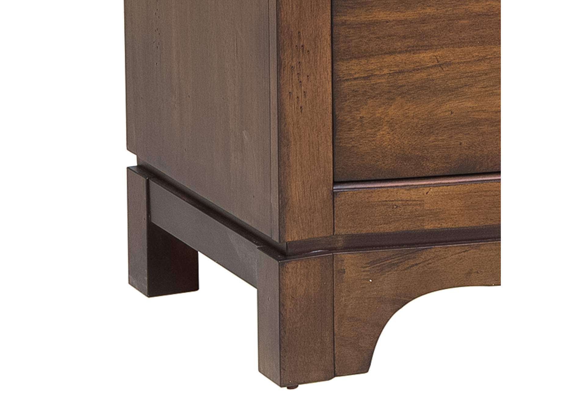 Avalon Pebble Brown Media Chest,Liberty