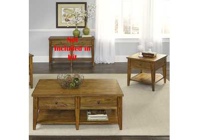 Image for Lake House Oak 3 Piece Occasional Table Set