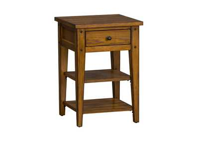 Image for Lake House Oak Chair Side Table