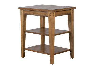 Image for Lake House Oak Tiered Table