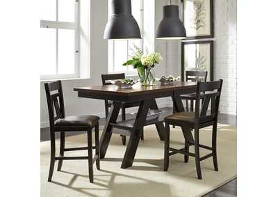 Image for Lawson Light & Dark Espresso 5 Piece Gathering Table Set
