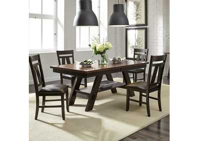 Image for Lawson Light & Dark Espresso 5 Piece Rectangular Table Set