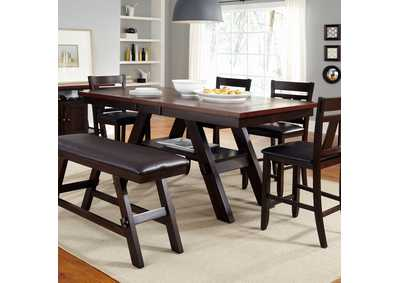 Image for Lawson Light & Dark Espresso 6 Piece Gathering Table Set