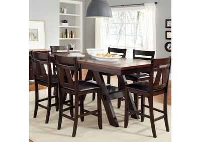 Image for Lawson Light & Dark Espresso 7 Piece Gathering Table Set