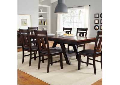 Image for Lawson Light & Dark Espresso 7 Piece Rectangular Table Set